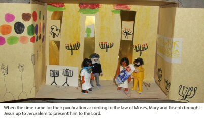 Mary and Joseph present Jesus in the temple - as retold by Junior Church